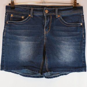 "Seven7 Shorts Dark Wash Denim Shorts 5.5"" Inseam"